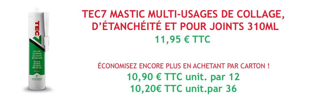 Tec7 mastic multi-usages de collage, d'étanchéité et pour joints 310ml